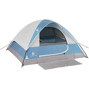 ALPHA CAMP 2-Person Camping Dome Tent with Carry Bag