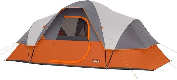 core 9 person extended dome tent review