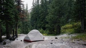 how to set up a tent in rain camping in bad weather