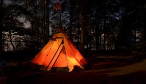Best Teepee Tent in the night