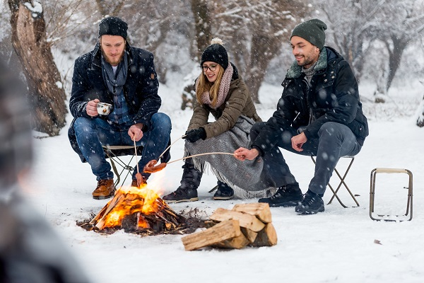 layer up clothing for winter camping