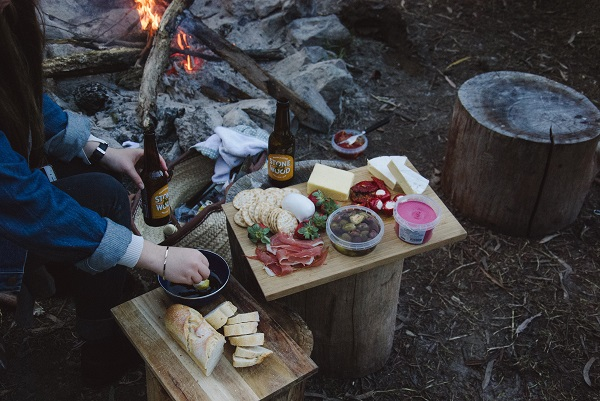preparing meals for camping