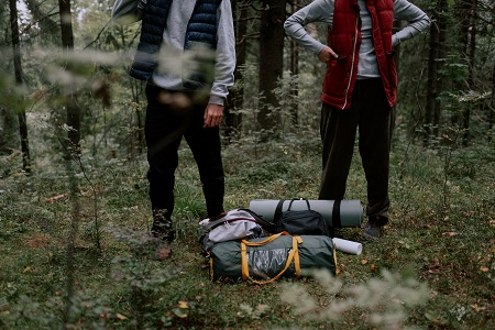 pack everything for rainy camping